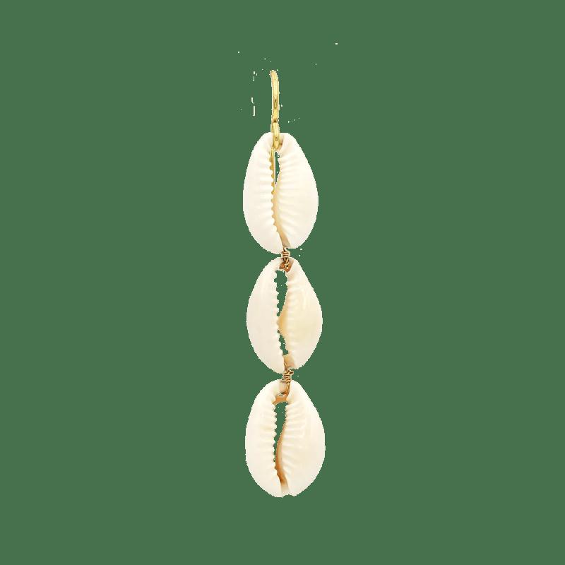 pendientes largos con conchas naturales