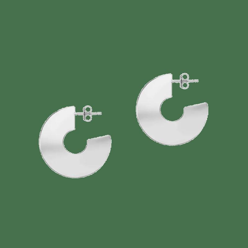 Pendientes de aro liso ancho en forma de disco
