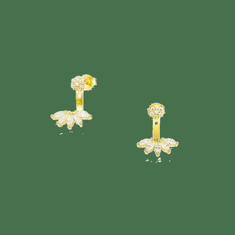 Pendientes estilo ancla con diseño de estilo floral