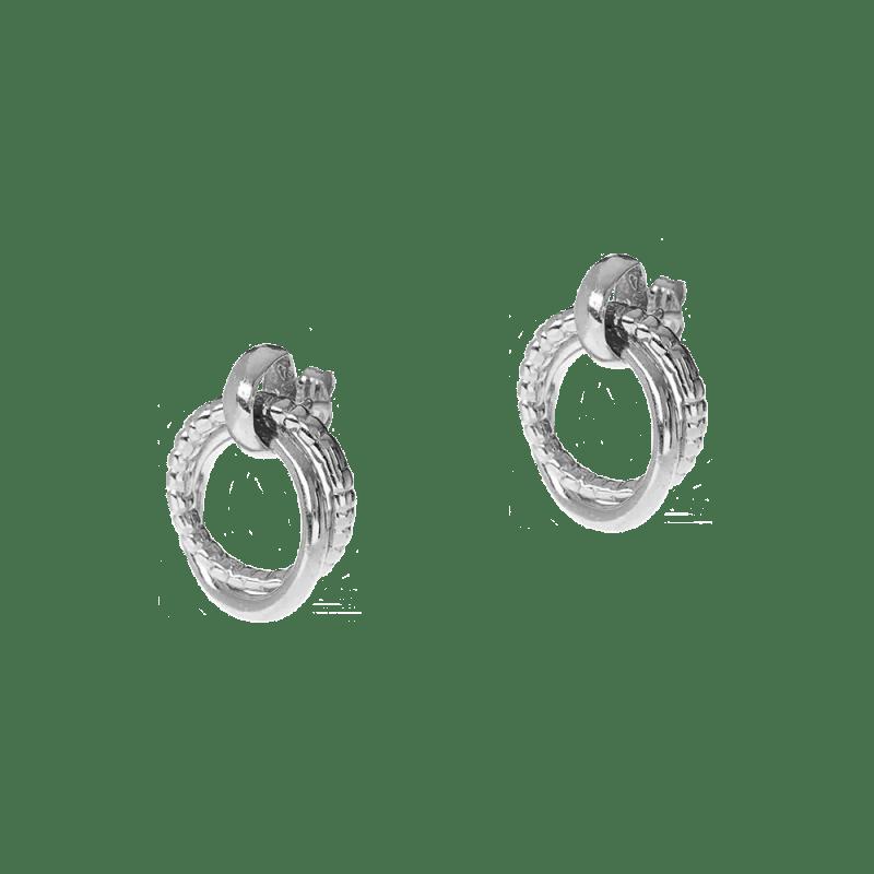 Pendietes de aros dobles en plata