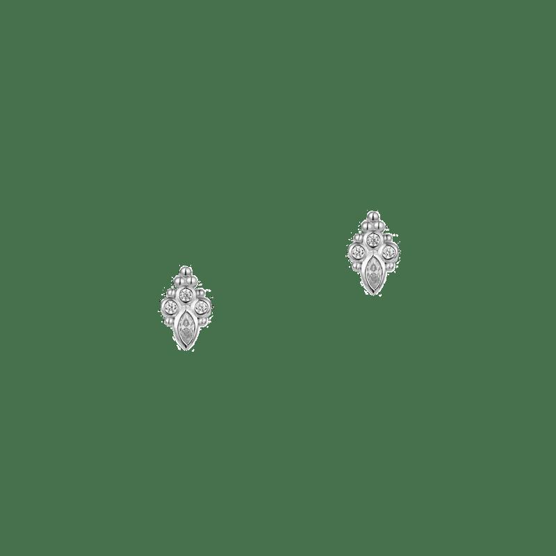 Pendientes boho en plata de ley con zirconitas