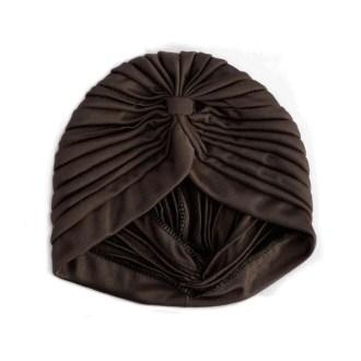 turbante marrón chocolate
