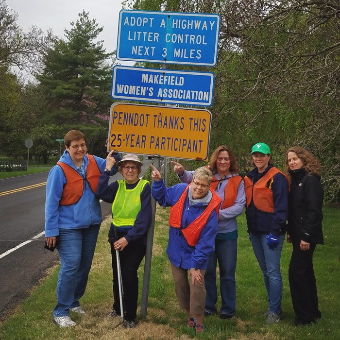 Makefield Women's Association | Adopt A Highway 25 Years