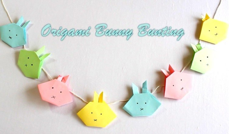 Easter crafts: How to make an Origami Bunny Bunting