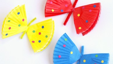 How to Make Cute Butterflies Out of Cupcake Liners.
