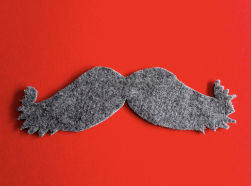 DIY Felt Moustache (Free pattern and tutorial)