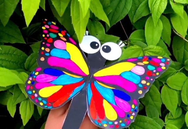 How to Make a Butterfly Finger Puppet