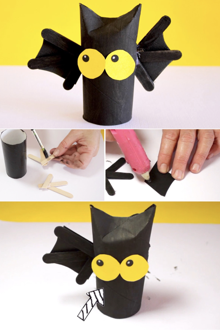 Here's a fun Halloween craft for the kids to make! Gather your materials and watch the video, or follow the tutorial below the video to see how we put the bat together.