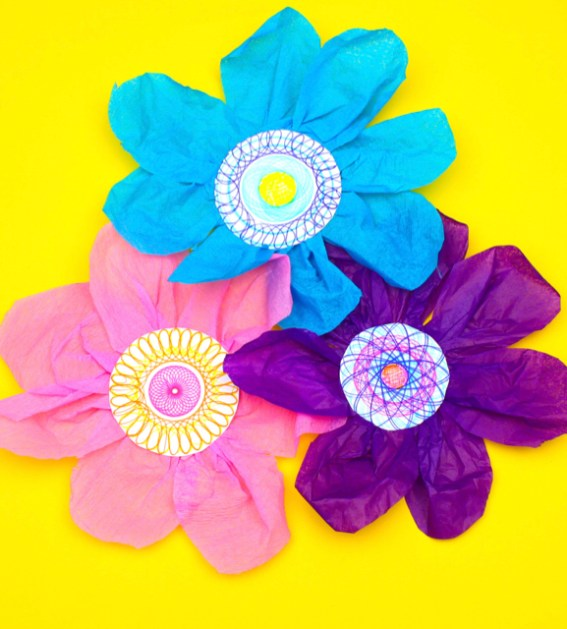 Tissue Paper Flowers Make Film Play