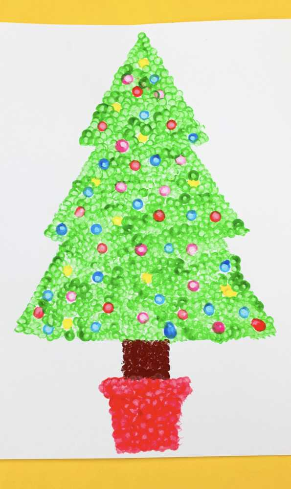 Christmas Tree Dot Painting