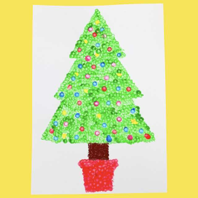 Christmas Tree Dot Painting Make Film Play