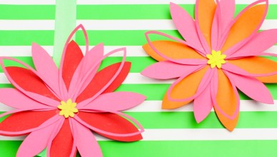 Paper flowers + free template