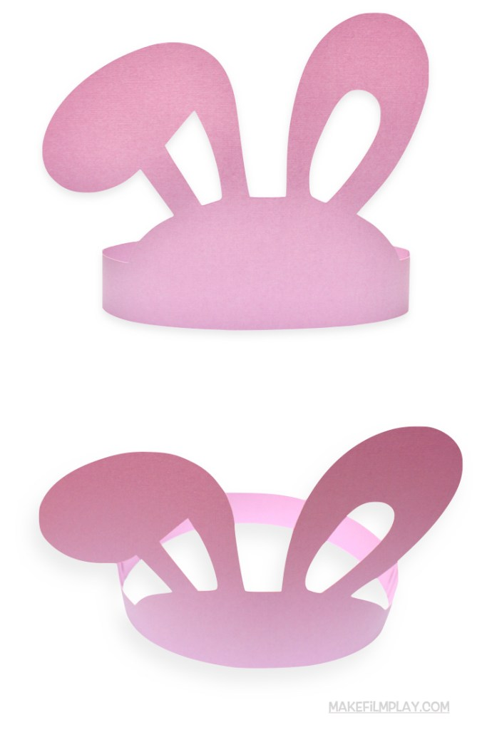 Make this sweet bunny ears headband that makes a wonderful party hat, is great for a bunny baby shower, a Peter Rabbit party, or is just fun for kids' imaginative play and dress up. This is a free printable that you can download as a PDF. #partyhats #easter #easterears #easterbunny #bunnyears