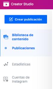 Facebook Creator Studio para programar en Instagram