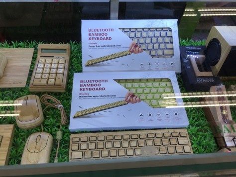 Bluetooth bamboo keyboard