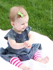 simple bow hair clips with -slip
