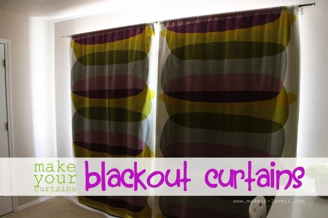Make Your Curtains BLACKOUT CURTAINS Simplified Version Make