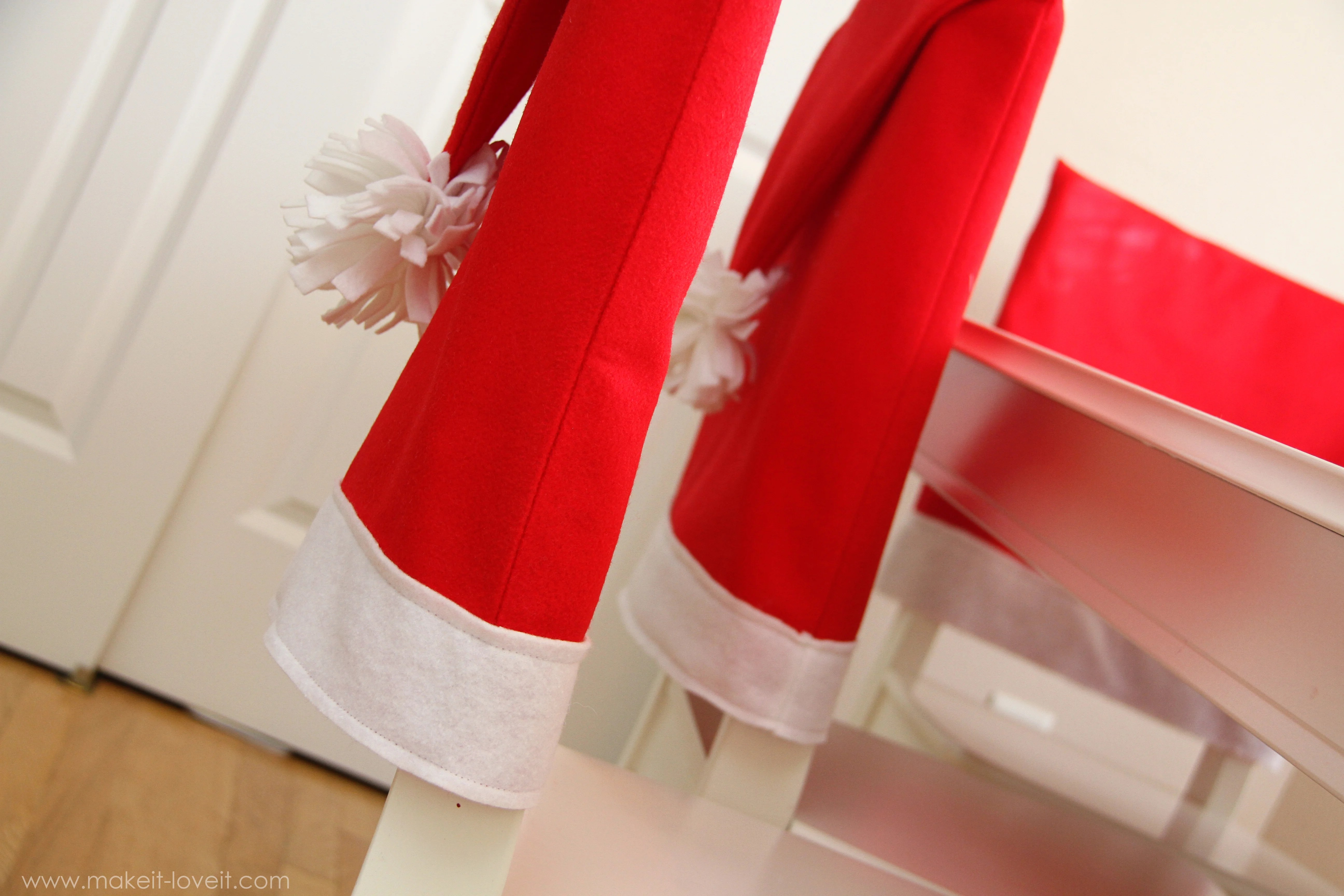 santa chair covers sets wedding shower decorations hat a serious bah humbug repellent