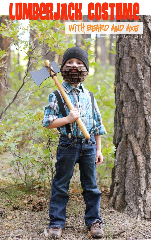 Lumberjack with Beard and Axe Costume