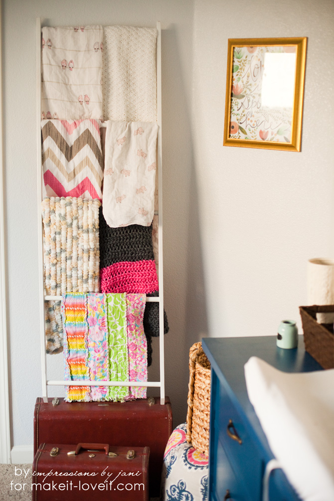 DIY Blanket Storage Display Ladder  Make It and Love It