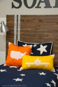 Appliqued Plane & USA Map Pillow Covers (with envelope ...