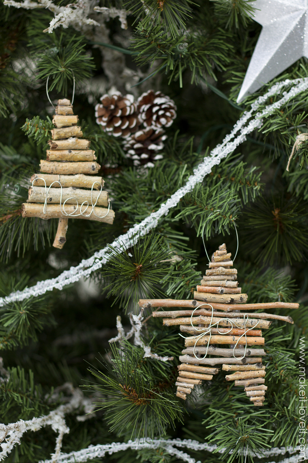 Twig and Wire Christmas Ornaments  Make It and Love It
