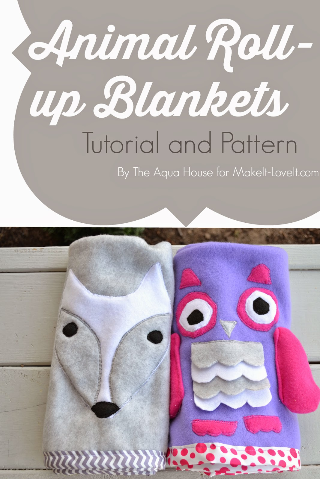 DIY Animal RollUp Blanketsa quick and simple gift idea