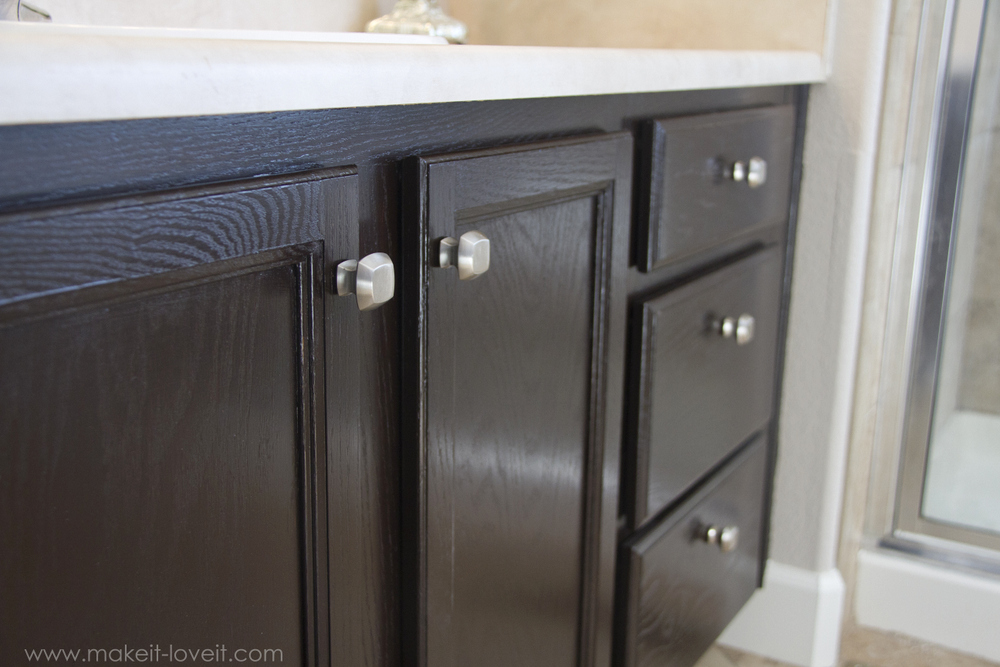 staining kitchen cabinets darker oven how you can stain oak and bathroom ...