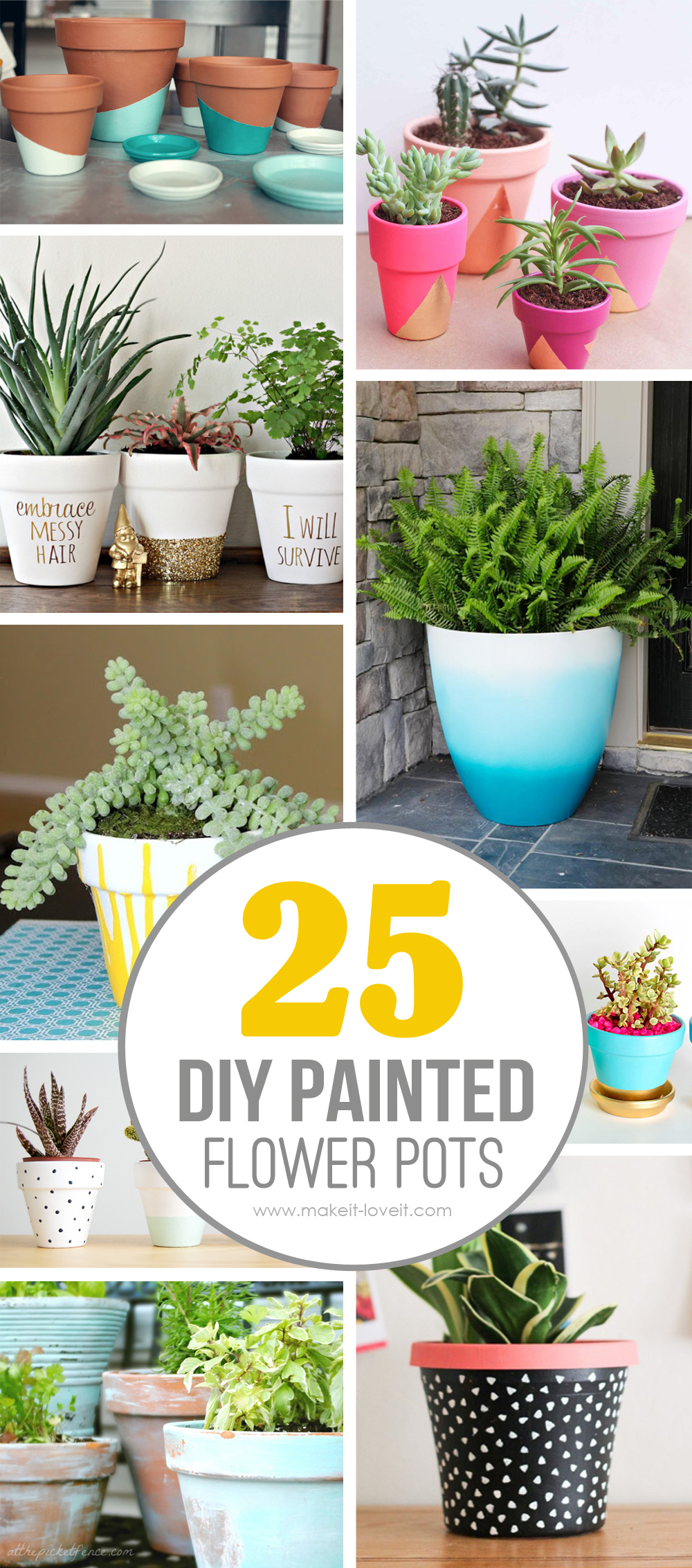 25 DIY Painted Flower Pot Ideas You'll LOVE