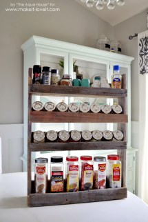 Diy Pallet Spice Rack Make And Love