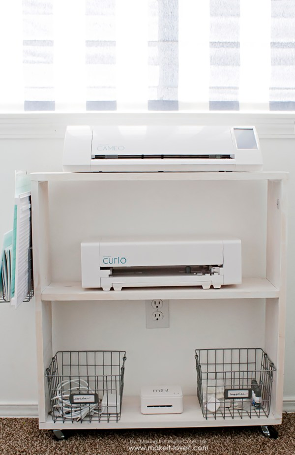 Easy Diy Craft Cart.perfect Silhouette Storage Make