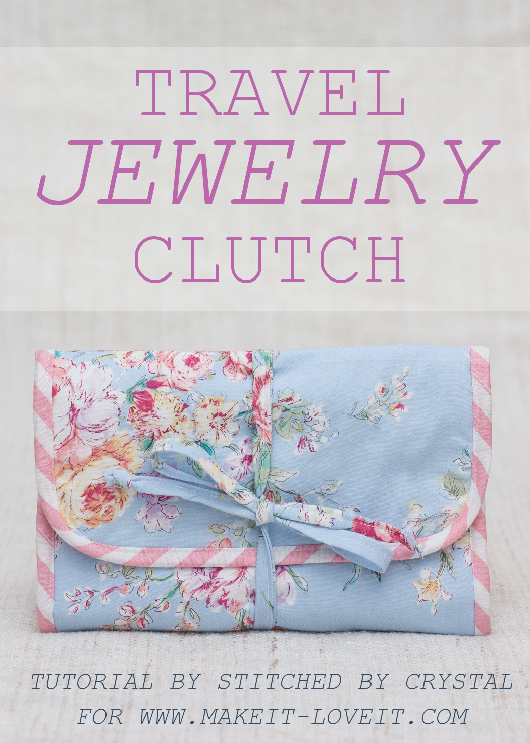 Travel Jewelry Clutch Tutorial....no more tangled or lost jewelry! | via www.makeit-loveit.com