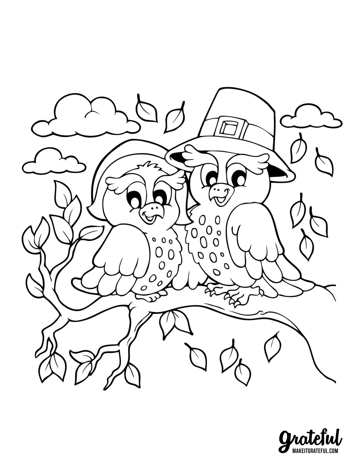 Thanksgiving Coloring Book Pages For Kids