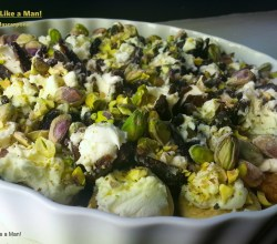 "Click the image to find the recipe for ""Figs with Mascarpone,"" from Make It Like a Man! Christmas Dinner Menu"