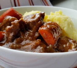 """Beef Stew with Mashed Potatoes,"" from Make It Like a Man!"