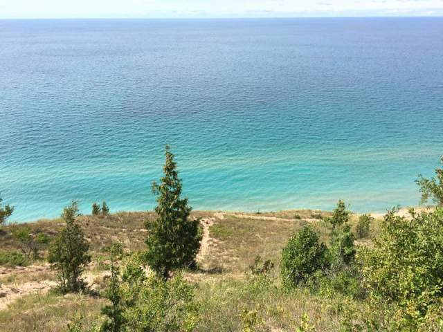 """Lake Michigan, viewed from Empire Bluff,"" from Make It Like a Man!"