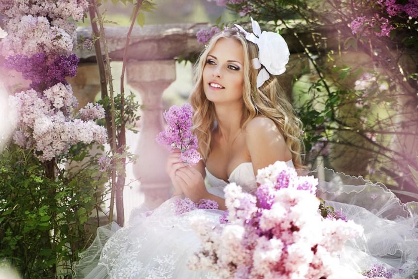 summer wedding bride