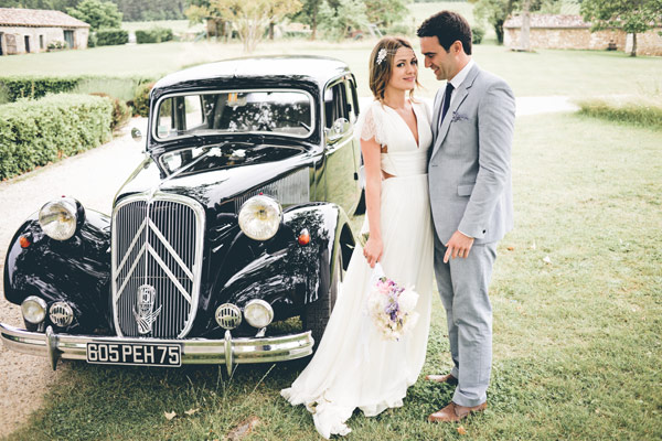 classic car at wedding
