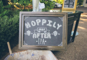 hoppily ever after wedding sign