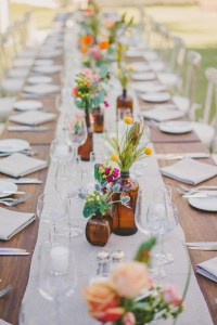 tablescape spring wedding catering
