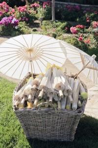 wedding umbrellas from rental company