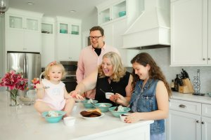 Make it Posh family picture in kitchen