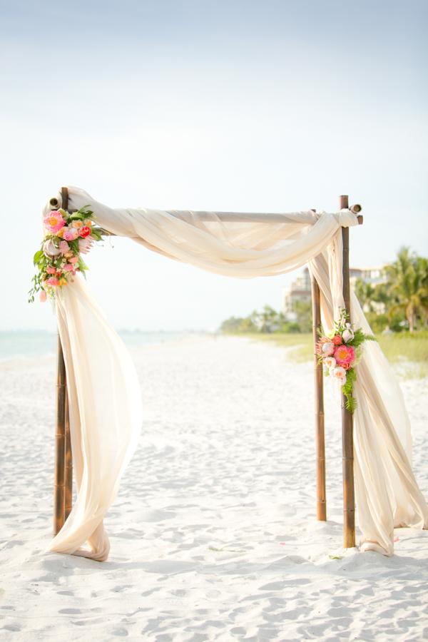 beach wedding ceremony altar