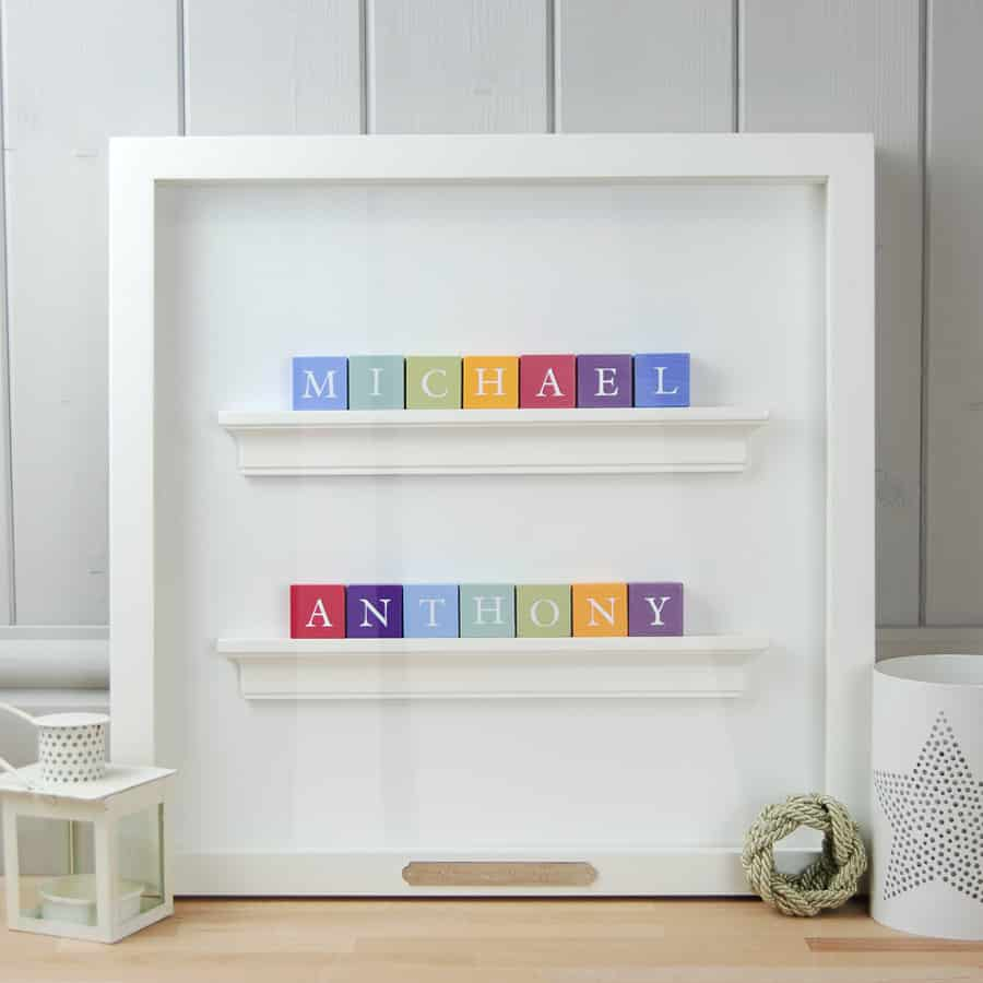 baby abc block frame