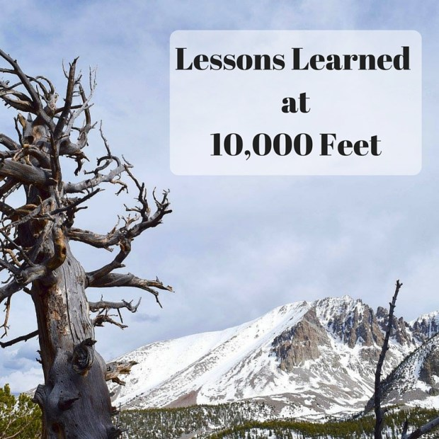 Lessons Learned at10,000 Feet