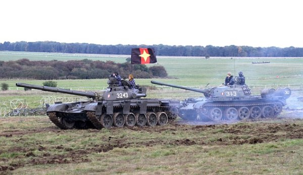 T55 and T72 tank used by the BDTL team at Warminsiter. Manned by UK forecs with modern Russian weapons.