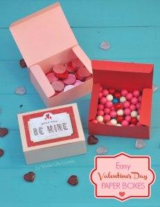 DIY Valentine Paper Boxes