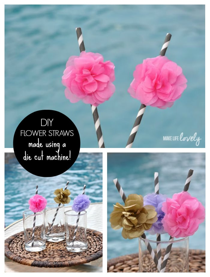 DIY Flower Straws for a Party