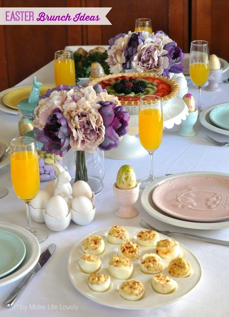 Brunch Ideas For Easter: Key Lime Fresh Fruit Tart And Easter Brunch Ideas