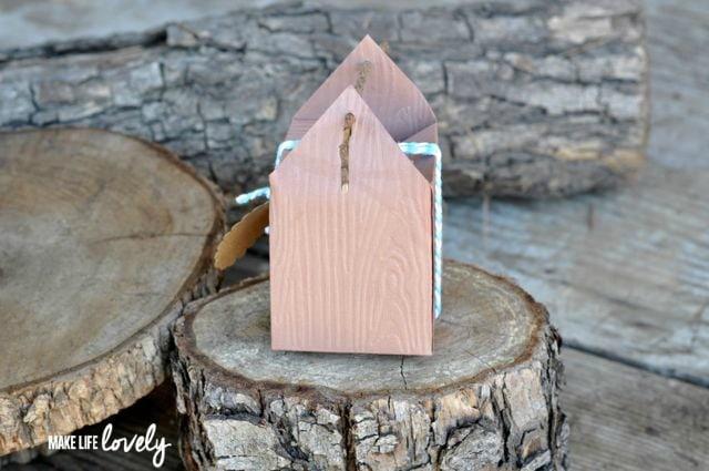 Embossed Woodgrain Paper Box